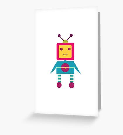 MY ROBOT FRIEND - 4 Greeting Card