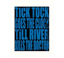 The Doctor's Song (BLUE) Art Print