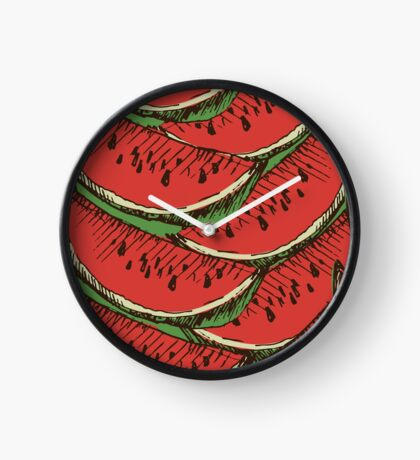Сolorful pattern with watermelon. Clock