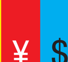 A mark, a yen, a buck, or a pound ... II Sticker