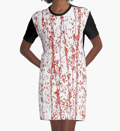 Mardi Gras Red Streaming Graphic T-Shirt Dress