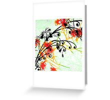 Slice of Spice Floral Bouquet Print Greeting Card