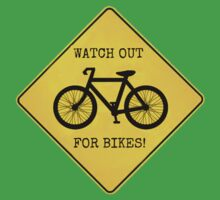 Watch Out For Bikes!! One Piece - Short Sleeve
