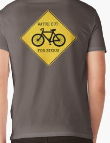 Watch Out For Bikes!! Mens V-Neck T-Shirt