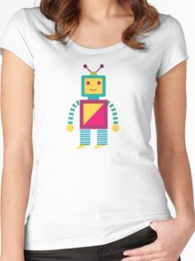 MY ROBOT FRIEND - 7 Women's Fitted Scoop T-Shirt
