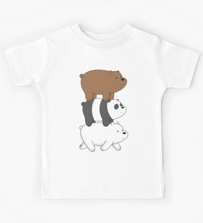 We Bare Bears- Stacked On the Move Kids Tee