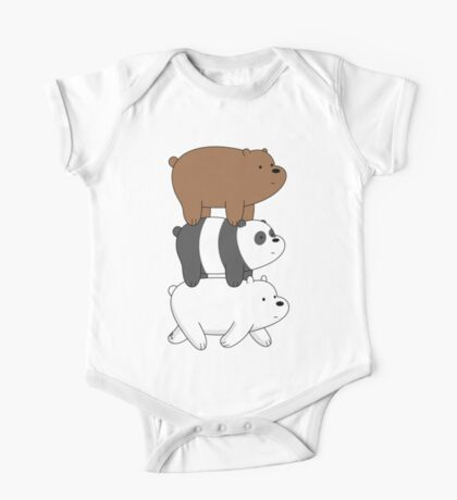 We Bare Bears- Stacked On the Move One Piece - Short Sleeve