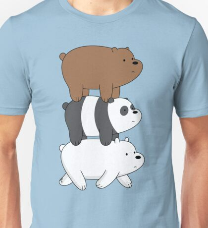 We Bare Bears- Stacked On the Move Unisex T-Shirt