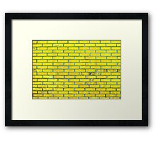 Yellow bricks Framed Print