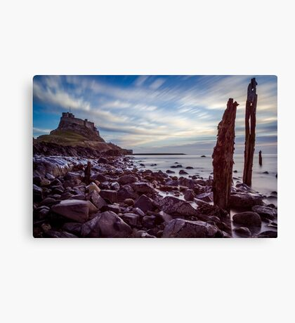 Long Exposure Island Castle Art Prints and Poster Canvas Print