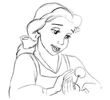 Belle Sketch by APParky