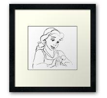 Belle Sketch Framed Print