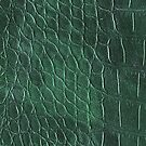 Alligator leather like green by WAMTEES