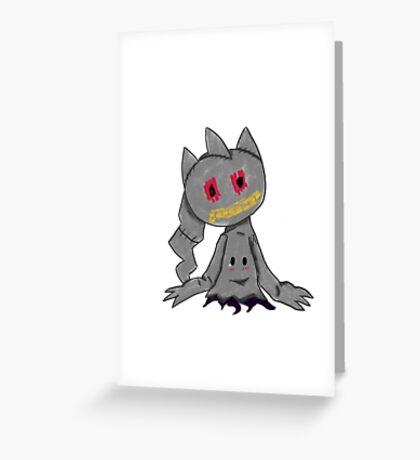 Pokemon- Banette Mimikyu  Greeting Card