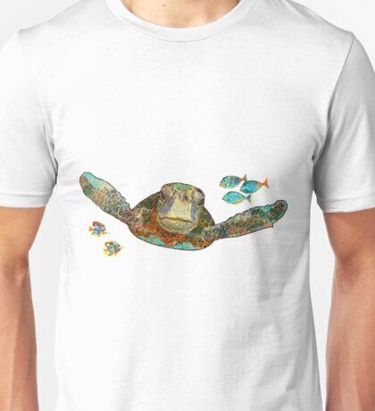 Flying Sea Turtle Funny Turtle Shirt Unisex T-Shirt