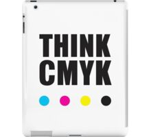 Think CMYK iPad Case/Skin