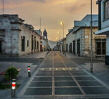 Deserted Street in Arequipa Peru by DFLC Prints