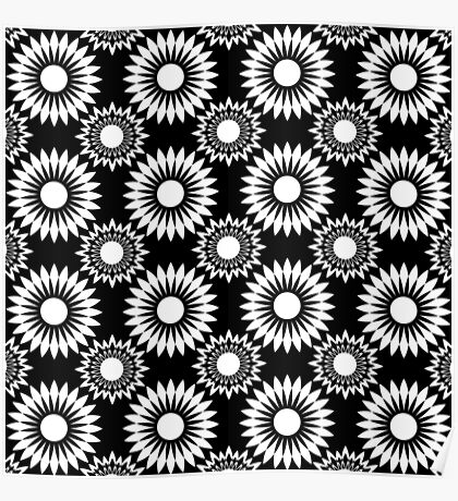 Black and white abstract pattern . 6  Poster