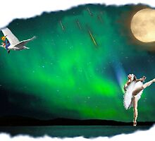 Aurora ballerina in the moon light by SaralieW