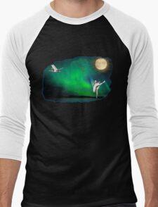 Aurora ballerina in the moon light Men's Baseball ¾ T-Shirt