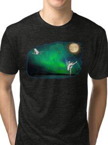 Aurora ballerina in the moon light Tri-blend T-Shirt