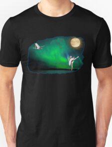 Aurora ballerina in the moon light Unisex T-Shirt