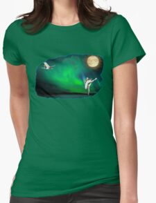 Aurora ballerina in the moon light Womens Fitted T-Shirt