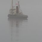 Model Tug in Fog by Jonathan Cox