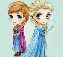 Anna & Elsa by SprawlingPuppy