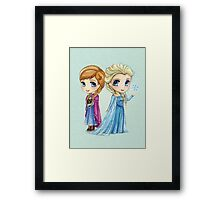 Anna & Elsa Framed Print