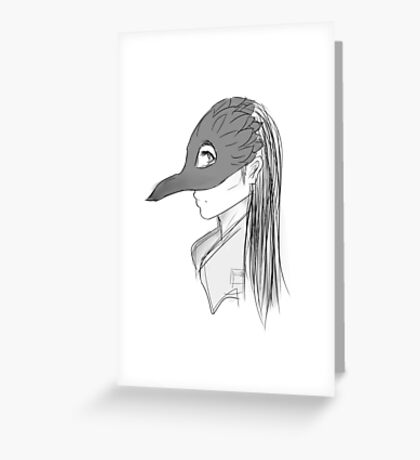 Daughter of the Crows Greeting Card