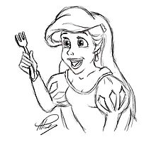 Ariel Sketch by APParky