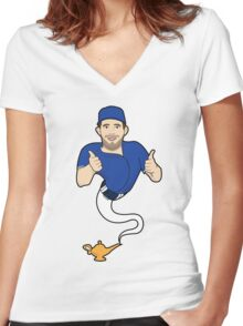 Be A Genie Women's Fitted V-Neck T-Shirt