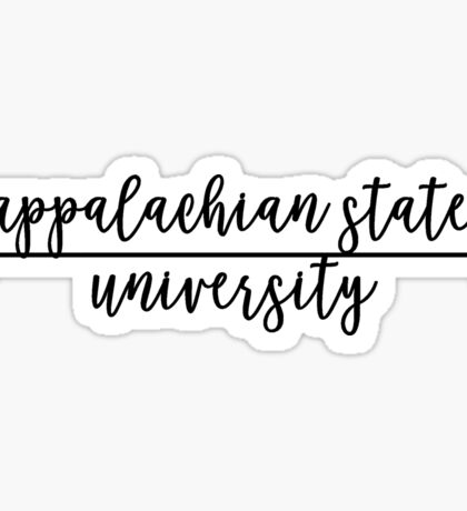 Appalachian State University Sticker
