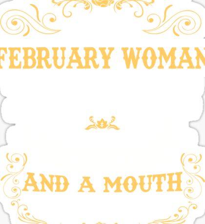 February Woman Shirt-Birthday Gifts-February Mugs Sticker