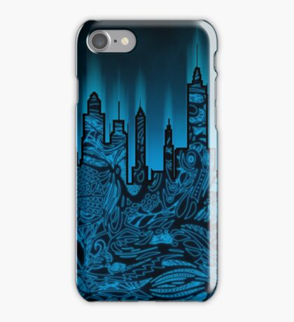 Zen City Glow Black iPhone Case/Skin