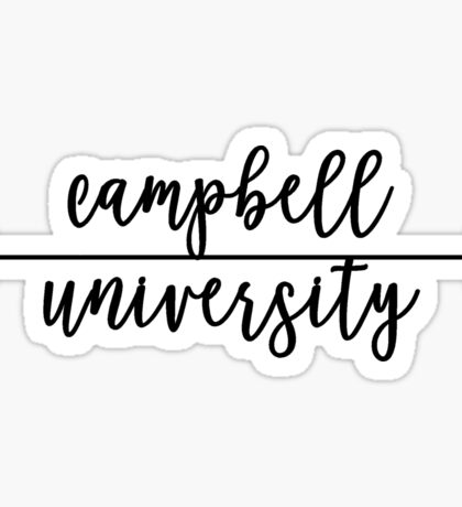 Campbell University Sticker