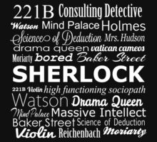 Sherlock in Words One Piece - Short Sleeve