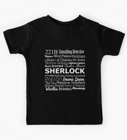 Sherlock in Words Kids Tee