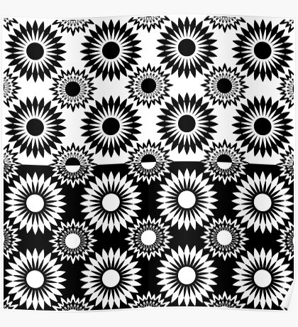 Black and white abstract pattern . 7 Poster