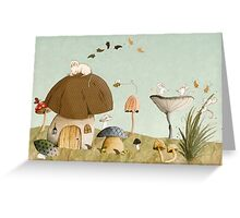 Mouse Garden Greeting Card