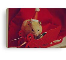 I am your little Santa Hamster  Canvas Print