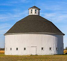 White Round Barn by Kenneth Keifer