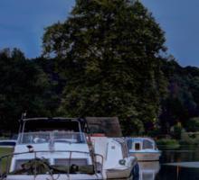 River Bure Coltishall at twilight Sticker