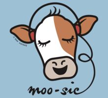 Moo-sic Cow One Piece - Short Sleeve