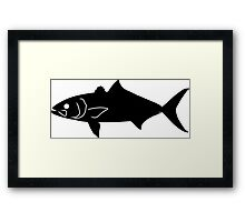 Banded Rudderfish Silhouette (Black) Framed Print