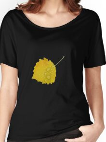 Autumn leaf in rain Women's Relaxed Fit T-Shirt