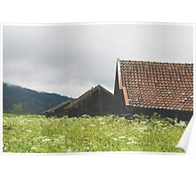 Three Bavarian Barns Poster