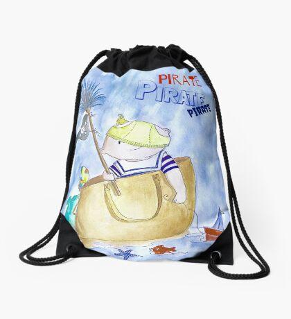 Little pirate Drawstring Bag