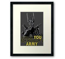 Mordor´s Army Framed Print